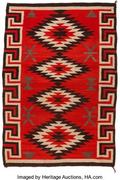 American Indian Art:Weavings, A NAVAJO REGIONAL RUG. Ganado. c. 1940...