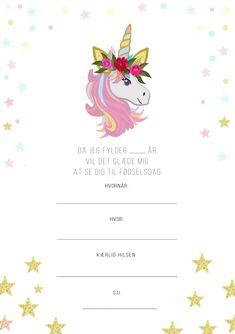 Børnefødselsdag - har du brug for et designet skabelon? Second Child, Essie, Projects To Try, Diy Crafts, Invitations, Cards, Birthday Celebrations, Camilla, Layout