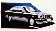 OG |1984 Mercedes-Benz 200-300 - W124 | Design sketch