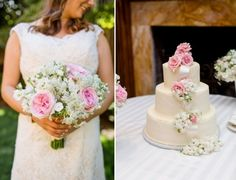 Friday Eye Candy: Pretty in Pink - DC Real Wedding - Bergerons Flowers - Bergerons Event Florist Blog #Pink #Flowers #Bouquet #Cake #PinkandWhite #Romantic Photo Credit: #AnnamarieAkinsPhotography