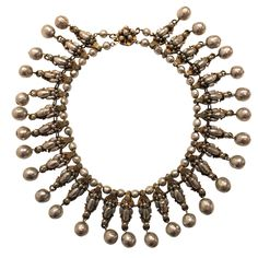 1960's Miriam Haskell Baroque Pearl Collar   From a unique collection of vintage choker necklaces at http://www.1stdibs.com/jewelry/necklaces/choker-necklaces/