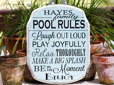 Easily customizable to fit Porch/Patio for those who don't have a pool too! POOL RULES Patio Rules SIGN Custom Made For You 11 by HerGummyGrin, $35.00