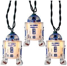 I really want these! Cute star wars r2d2 lights!
