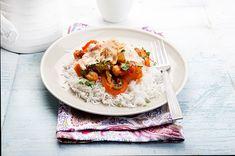 Εύκολο κάρυ με ρεβύθια και ρύζι από την Αργυρώ Μπαρμπαρίγου! Cooking Time, Cooking Recipes, Food Categories, Vegan Dishes, Greek Recipes, Rice, Gluten Free, Ethnic Recipes, Food Food