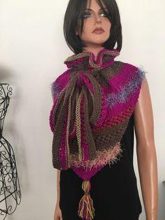 Hand Knits 2 Love Shawl Scarf Cowl Designer Fashion Hop Boho  #HandKnits2Love #ShawlScarfCowlBandana