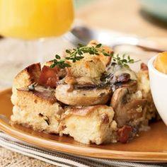 Mushroom, Bacon, and Swiss Strata   MyRecipes.com