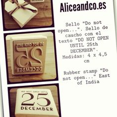 #sellos #stamp #packaging #scrapbooking www.aliceandco.es