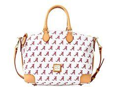 Dooney and Bourke Alabama Crimson Tide Satchel Handbag - White
