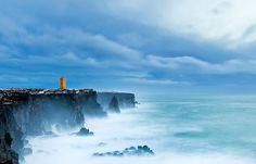 Iceland and the ocean - constantly in love with each other. See more on Iceland here: http://www.northernlightsiceland.com/