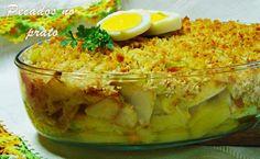 Pecados no prato: #Bacalhau especial gratinado com pão e #couve penca