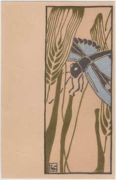 Dragonfly  Japanese  Kyoto Sanjô Benridô,   Overall: 13.8 x 8.8 cm (5 7/16 x 3 7/16 in.)  Color lithograph; ink and metallic pigment on card stock  Classification: Postcards  Accession number: 2002.1434  Leonard A. Lauder Collection of Japanese Postcards