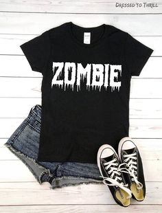 ZOMBIE  graphic t-shirt goth grunge horror shirt