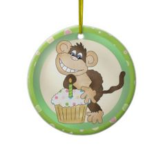 Birthday Monkey ornament