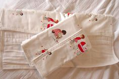 Girl and her doll burp cloth set by CraftsalotTwins on Etsy, $18.00