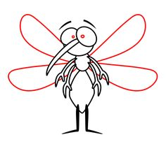 """It's a word we have been hearing since we were little - MOSQUITO. But do you know where does the word mosquito come from? It comes from the Spanish or Portuguese for """"little fly"""". Doodle Drawings, Cartoon Drawings, Itchy Mosquito Bites, Dengue, Sesame Street Characters, Butterfly Dragon, A Cartoon, Funny Cartoons, School"""