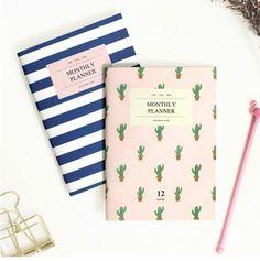 A6 36 P Anual Mensal Planejador Organizador Agenda 2016 2017 Catcus Marinha Estudante Notebook e Revistas Caderno Material Escolar em Cadernos de Office & School Suprimentos no AliExpress.com | Alibaba Group