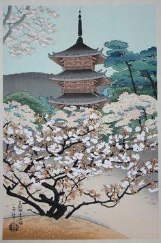 """""""The Pagoda of Nannaji Temple"""" by Benji (Tangyu) Asada"""