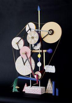Sarah Illenberger is an illustrator, designer and artist based in Berlin. Sarah Illenberger, Rube Goldberg Machine, 3d Collage, Drawing Machine, Kinetic Art, Star Art, Hanging Art, Art Lessons, Art For Kids