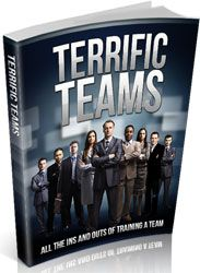 Terrific Teams http://www.plrsifu.com/terrific-teams/ eBooks, Give Away, Master Resell Rights, Niche eBooks #TeamBuilding, #TeamTraining The mere gathering of a group of people does not necessarily constitute to the effective beginnings of a team training exercise that is going to be productive and successful. Several different aspects need to be taken into careful consideration ...