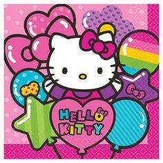 Hello Kitty Rainbow Paper Dinner Napkins - 16 count,