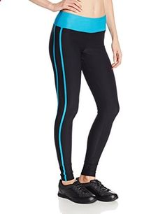 Steve Madden Women's Fitted Ankle Legging Side Stripe, Neon Blue, Medium  Go to the website to read more description.