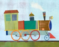Choo Choo Train Print by twoems on Etsy, $26.00 I loved all their prints for the playroom!