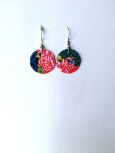 Boucles d'oreilles colorées en métal recyclé : Boucles d'oreille par…