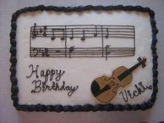violin cakes
