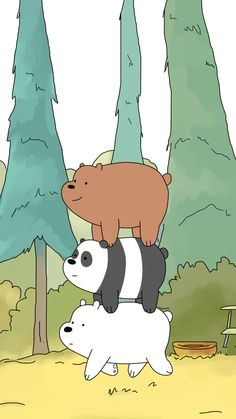 Image discovered by Naty. Find images and videos about animal, cartoon and bear on We Heart It - the app to get lost in what you love. Cute Panda Wallpaper, Cartoon Wallpaper Iphone, Bear Wallpaper, Cute Disney Wallpaper, We Bare Bears Wallpapers, Panda Wallpapers, Cute Cartoon Wallpapers, Ice Bear We Bare Bears, We Bear