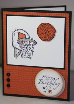 Basketball Birthday Card by CAKath - Cards and Paper Crafts at Splitcoaststampers