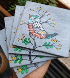 Painting Patterns, Fabric Painting, Diy Painting, Coaster Art, Tea Coaster, Coaster Design, Kerala Mural Painting, Indian Art Paintings, Madhubani Art