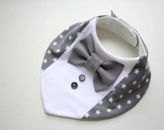 Baby dribble bib removable tie