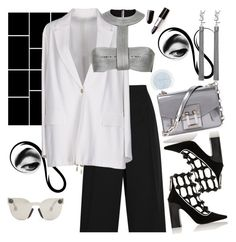 """""""Police"""" by chelsofly ❤ liked on Polyvore featuring Alexander McQueen, Proenza Schouler, Acne Studios, Fabrizio Viti, Christopher Kane, Yves Saint Laurent, white and black"""