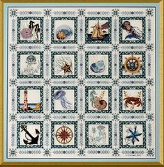 Sea Quilt by Chatelaine - $446.00 for the pattern plus kit