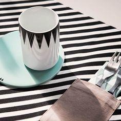 Ferm LIVING- dækkeserviet-Black Stripe