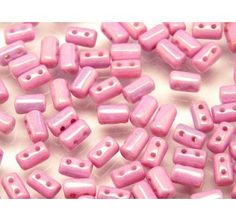 20gr Czech Glass Two-Hole Seed Beads RULLA 3x5mm CHALK LILA LUSTER