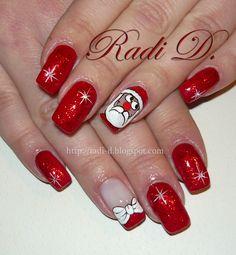 santa christmas #nail #nails #nailart
