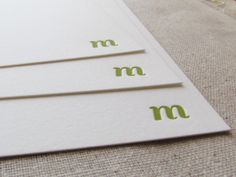 Letterpress Personalized Stationery  1color  by DinglewoodDesign, $48.00