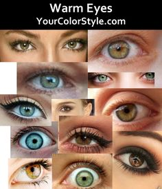 Color Analysis - Warm Undertones - Warm Eyes - If you have warm undertones, your eyes will have have warmth. They could range from light blue-green, green, golden hazel to golden brown. Olive Green Eyes, Hazel Green Eyes, Blue Green, Deep Autumn Color Palette, Light Spring Palette, Deep Winter Colors, Autumn Colours, Warm Colors, Soft Autumn Deep