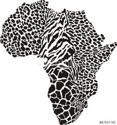 Africa map in a cheetah camouflage. Vector illustration of africa as a animal skin. African Inspired Fashion, African Print Fashion, African Prints, Afrika Tattoos, Africa Continent, Safari Wedding, African Art Paintings, Canvas Paintings, African Textiles