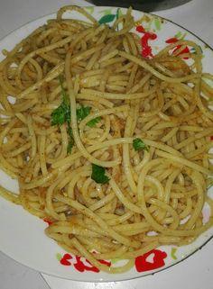 Spaghetti aglio, olio, peperoncino e pan grattato