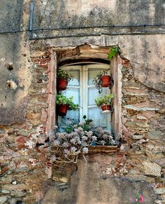 Old Style by Amsterdam Today. This photo was taken on July 2010 in Aups, Provence-Alpes-Cote d'Azur, FR, (By: Amsterdam Today-Morpheus van Schaagen) Old Windows, Windows And Doors, Vintage Windows, Amsterdam Today, Garden Windows, Window View, Through The Window, Old Doors, Window Boxes