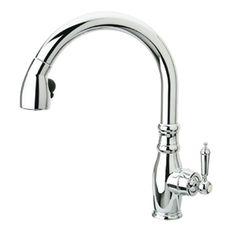 Whitehaus WHUS591L1-POCH Metrohaus 10-1/4-Inch Single Hole Kitchen Faucet with Gooseneck Spout, Polished Chrome - Touch On Kitchen Sink Faucets - Amazon.com