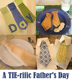 "A ""Tie-riffic"" Father's Day with banner, breakfast, gift ideas and more!"