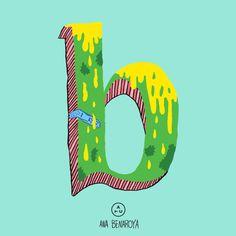 Ana Benaroya x ATC Artist Series 1  Letter B inspired by ATC Rosemary For more illustrations → http://avondaletypeco.tumblr.com/tagged/artistseries  Go check Ana's work → http://anabenaroya.com/