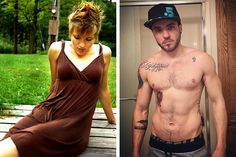 #Transgender #FTM Aydian Dowling recorded his transition from his first day on YouTube gathering over 100,000 followers.