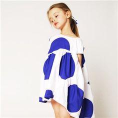 BOdeBO blue dots dress