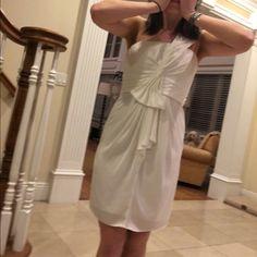 White BCBG mini dress White BCBG dress only worn once... perfect condition BCBGMaxAzria Dresses Mini