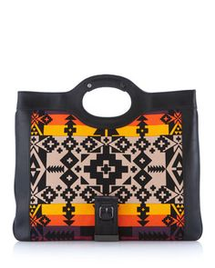 """L.A.M.B - aztec print tote Saw a woman with this bag on the BART train this morning and my heart skipped a beat. I then saw this on beauticurve.com blog and thought to myself """"I have to have this bag!!!"""" Lol"""