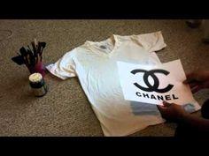 Tutorials: How to make a Chanel logo Shirt (or any logo shirt)